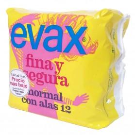 Compresas EVAX Fina y Segura. Normal con alas