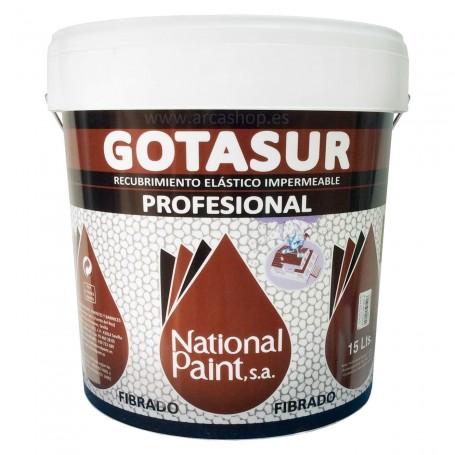 Gotasur Profesional. Pintura de Caucho (Rojo o Blanco). recubrimiento elástico impermeabilizante