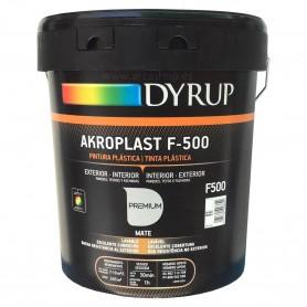 Pintura Plástica Akroplast F-500. Pintura para exterior e Interior.