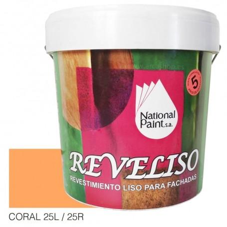 Coral Pintura Plástica Revestimiento Color. Pintura Fachadas