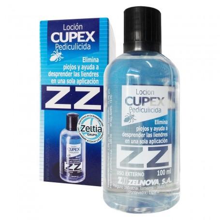 Loción antipiojos ZZ CUPEX. Pediculicida. Loción capilar para la eliminación de los piojos y sus huevos (liendres).
