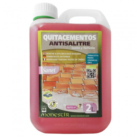 Quitacementos Antisalitre Sanet de Minestir. Limpiador Cemento