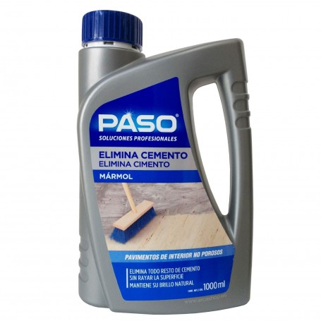 Elimina Cemento PASO. Mármol y suelos no porosos.