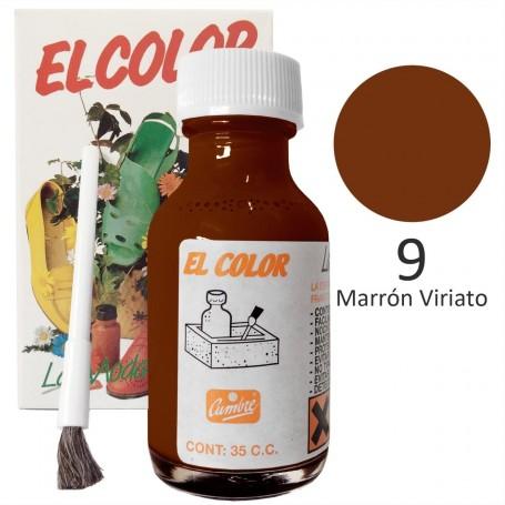 Tinte color marrón viariato para calzado, bolsos y pieles.