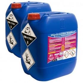Hipoclorito Sódico 20 litros PQS: Cloro para piscinas de polideportivos.