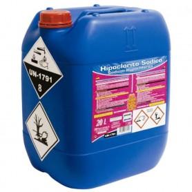 Hipoclorito Sódico 20 litros PQS: Cloro para piscinas de ayuntamientos, polideportivos, comunidades