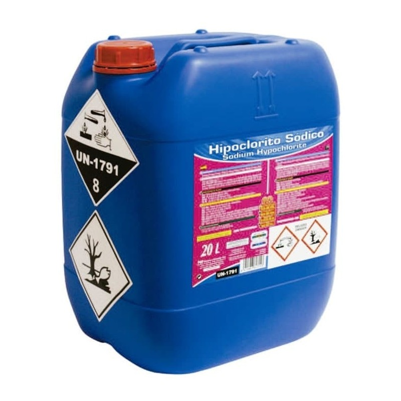 Hipoclorito Sódico 20 litros PQS para piscinas