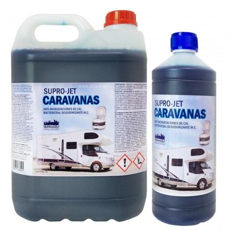 SUPRO JET CARAVANAS  W.C. CIRCUITO CERRADO. Bactericida, desodorante, desinfectante para Water Caravanas y furgonetas campers