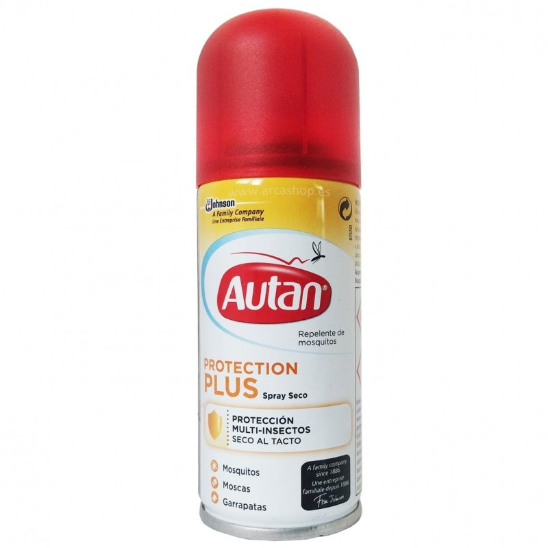 Autan Protection PLUS Spray Repelente moscas, mosquitos y garrapatas