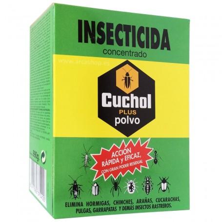 Insecticida en Polvo Cuchol contra hormigas, pulgas, cucarachas, garrapatas, pulgón, etc.