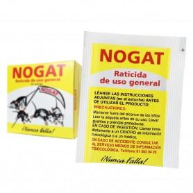 NOGAT Raticida Uso General. Polvo Exterminador Ratas y ratones