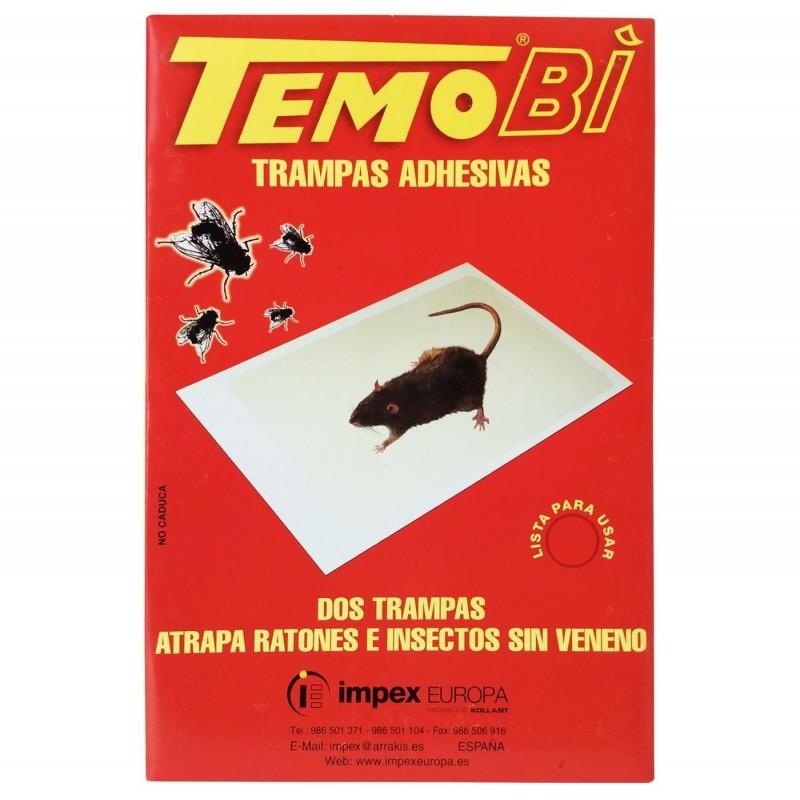 Trampas adhesivas TemoBi. Insectos y ratones.