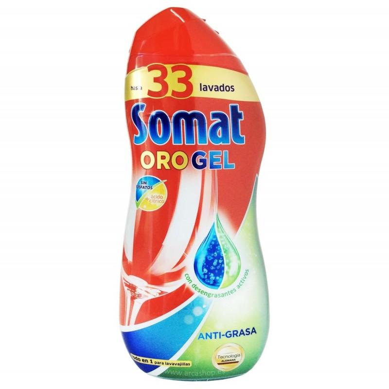 Somat Oro Gel Vinagre o Antigrasa. Detergente líquido Lavavajillas