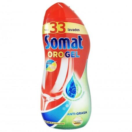 Detergente líquido Lavavajillas Somat Oro Gel