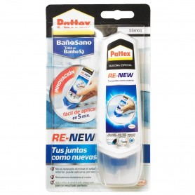 Re-New Pattex Silicona Especial fácil aplicación Baño Sano