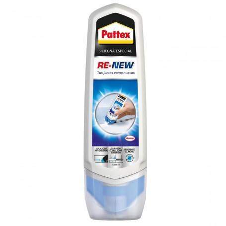 Re-New Pattex Silicona Especial fácil aplicación Baño Sano. Como un rotulador