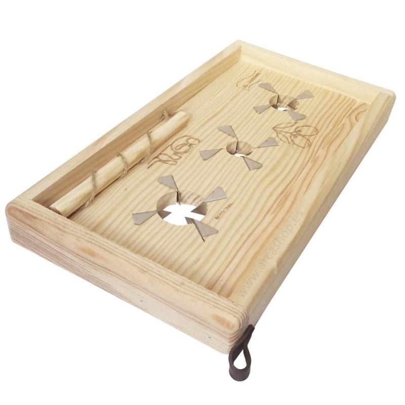 Tabla Artesanal de Rajado de Aceitunas de mesa