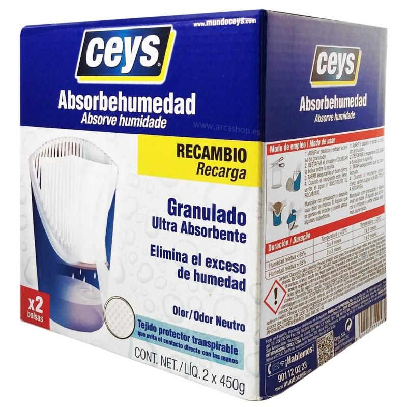 Recambio Absorbehumedad. Granulado ultra absorbente Ceys.