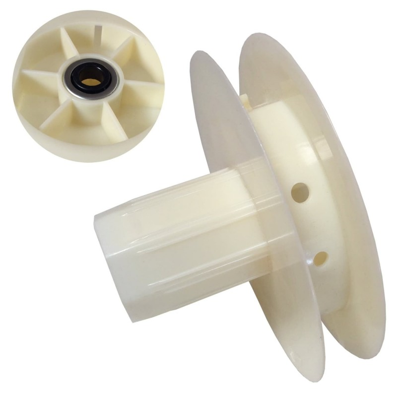 Disco PVC Marfil Persiana mini con rodamiento