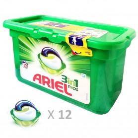 Capsulas ARIEL 3en1 PODS. Combinación de líquidos detergentes para lavadora. Lavado a máquina. 12 cápsulas