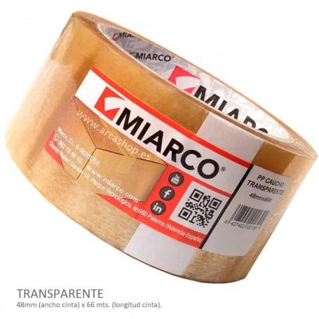 Cinta Embalar PP Caucho Miarco Transparente. Mudanzas. Comprar royos baratos.