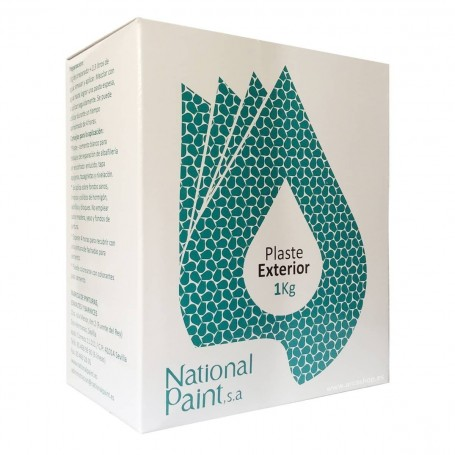 Emplaste Exterior National Paint. Cemento Blanco. Reparar paredes y techos.