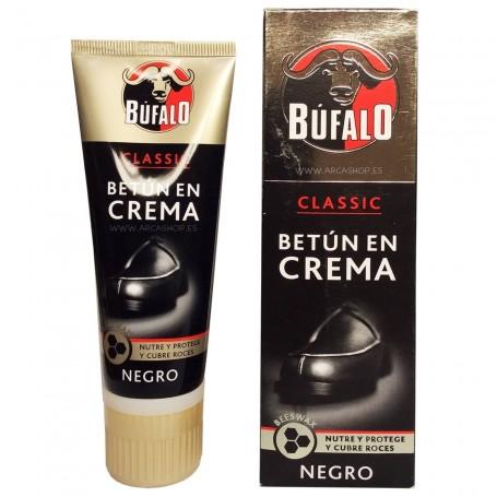 Betún en Crema Calzado Búfalo. Negro