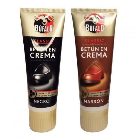 Betún en Crema Calzado Búfalo. Negro y Marrón