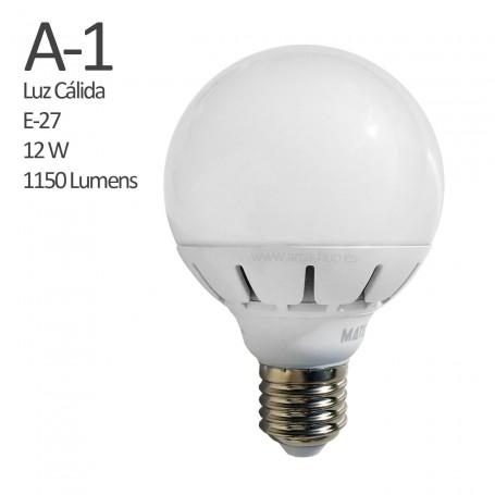 A1 Comprar Bombilla Led 1150 Lumens, casquillo E27, Luz cálida, 12 watios.
