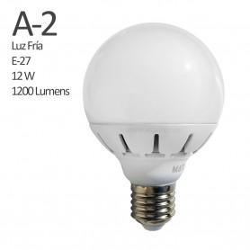 Comprar Bombilla Led 600Lumens, casquillo E27, vida util de 500.000 horas. Luz fría (luz Blanca) de 6400 K.