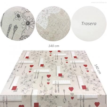 Hules estampado tela Mesa cocina / comedor