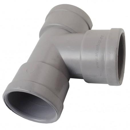 T PVC Rigido Hembra-Hembra