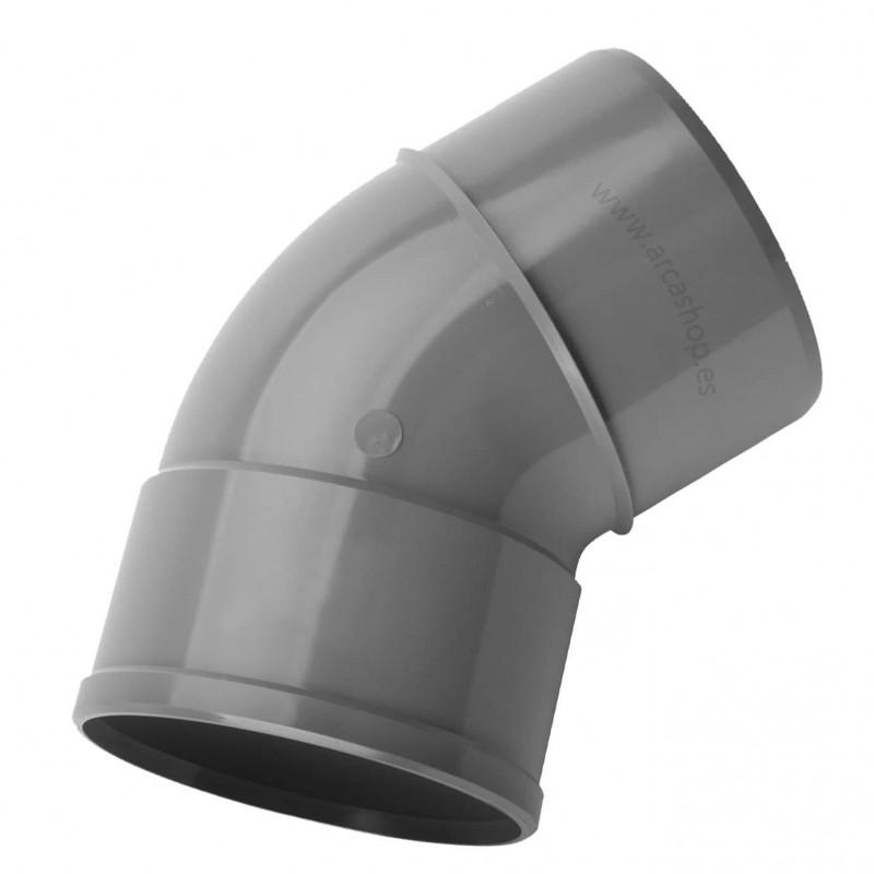 PVC Codo 45º Macho-Hembra