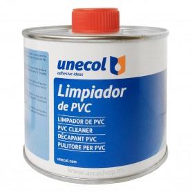 Limpiador PVC Unecol. Limpiar superficie de PVC antes de pegar.