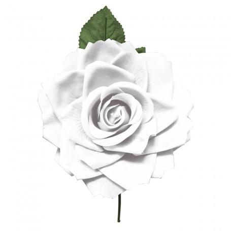Flor de Gitana o Flamenca Clásica Blanco