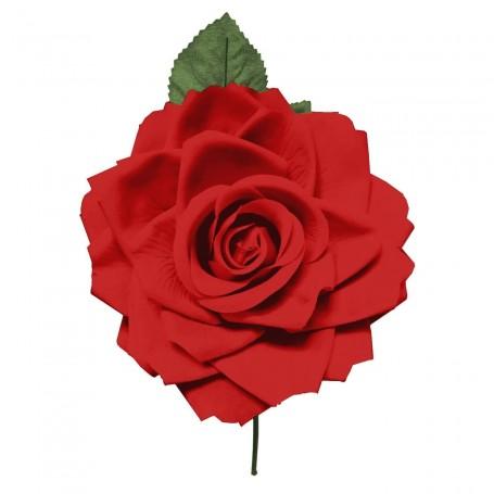 Flor de Gitana o Flamenca Clásica Rojo