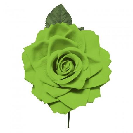 Flor de Gitana o Flamenca Clásica Verde