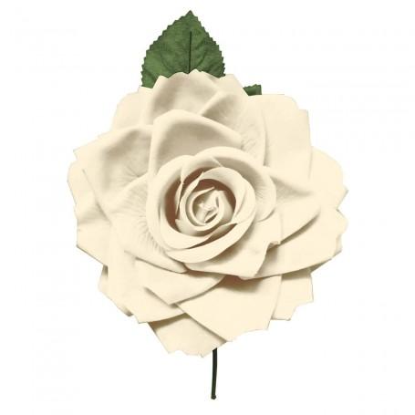 Flor de Gitana o Flamenca Clásica beige