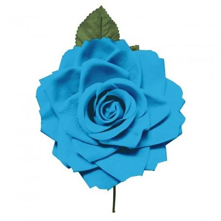 Flor de Gitana o Flamenca Clásica azul
