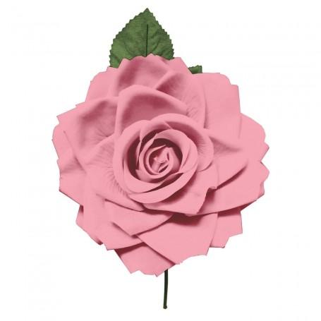 Flor de Gitana o Flamenca Clásica Rosa