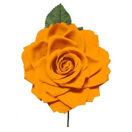 Flor de Gitana o Flamenca Clásica naranja