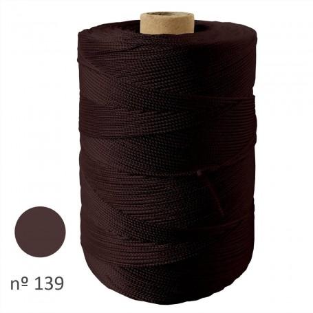 Rollo Hilo Cuquillo Flamenca marrón oscuro