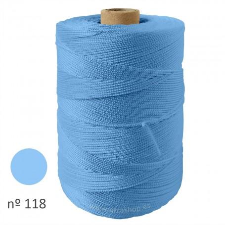 Hilo Cuquillo azul claro Rollo. Mantones Flamenca