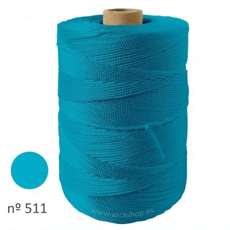 Hilo Cuquillo azul turquesa Rollo. Mantoncillo gitana