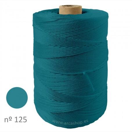Hilo Cuquillo azul turquesa oscuro Rollo. Mantoncillo gitana