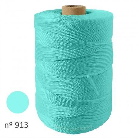 Hilo Cuquillo verde agua Rollo. Mantoncillo gitana