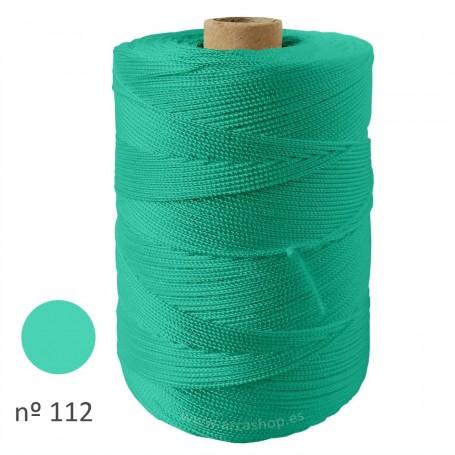 Hilo Cuquillo verde agua medio Rollo. Mantoncillo gitana