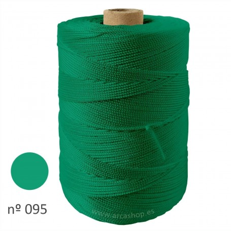 Hilo Cuquillo verde agua oscuro Rollo. Mantoncillo gitana