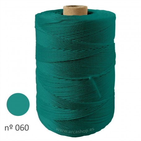 Hilo Cuquillo verde agua intenso Rollo. Mantoncillo gitana