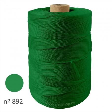 Hilo Cuquillo verde hierba Rollo. Mantoncillo gitana